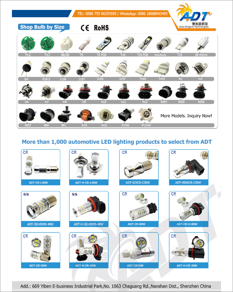 Auto Car High Power 80W LED bulb Headlight H16 H4 H7 1156 1157 9006