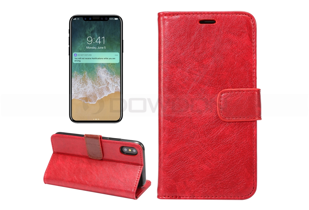 PU Leather Card Holder Flip Wallet Cover Case for iPhone 8/7/7Plus/6/6S/Plus