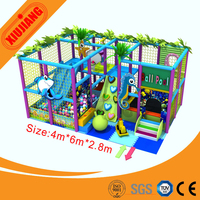 24 square meters jungle theme mini indoor playground with trampoline (XJ1001-081708)