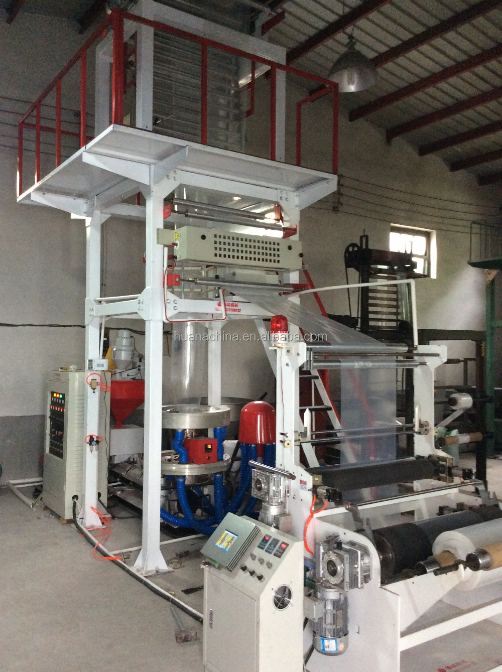plastic film blowing machine for shopping bag