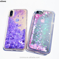 Professional make print phone case manufacturer supplies bling bling phone case beautiful liquid glitter phone case for iphone 8