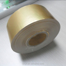 gold laminate aluminium foil paper for cigarette packaging