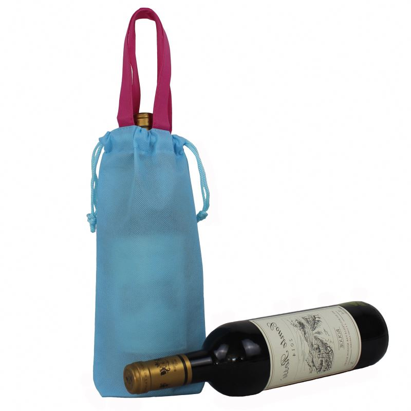 Sedex audit customized top quality non woven wine bag