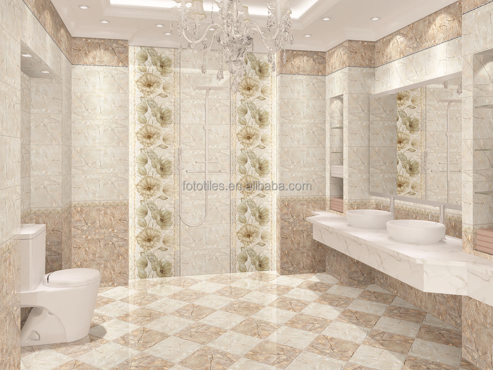 Inkjet glazed marble design bathroom egyptian ceramic for Bathroom designs egypt