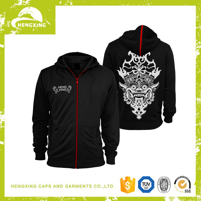 Plain black hoodie with fit male sports for men custom fashion hoody jacket