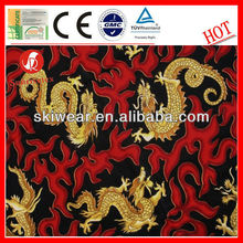 High Color Fastness Polyester Dragon Printed Fleece Fabric