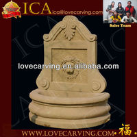 Outdoor Yellow Sandstone Garden Stone Fountains