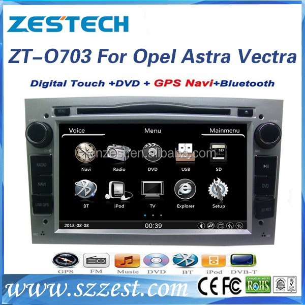 A8 chipset car dvd player for Opel astra h car radio dvd gps navigation system with GPS, BT, SWC, Radio, Audio, DTV, ATV, 3G