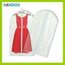 Dress suit coat clothes covers, newest limpidity clear zippered garment bags wholesale