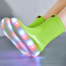 LED Light Up Boots LED Lighting boots Shoe for Casual sneaker Hip-hop Dancing and Party boots