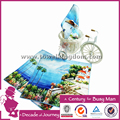 2017 hot special customized lovely digital printed hand towel blue house low moq 100% cotton soft and comfortable