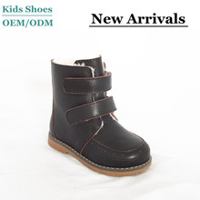 Winter Baby Boots Genuine Leather kids fur lined boots