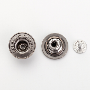 Luxury brand custom logo pressure round iron metal tack jeans button