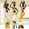 African lady resin figurine, africa statues, figures for home decor resin lady crafts