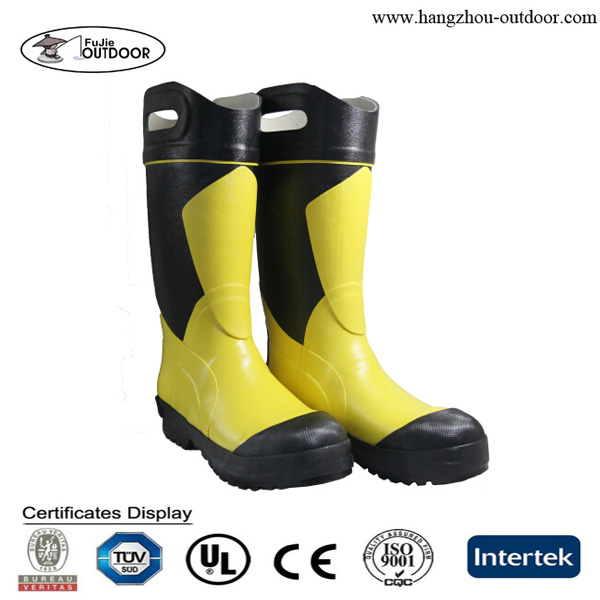 Steel Toe Insert Fire Resistant Safety Rubber Boots