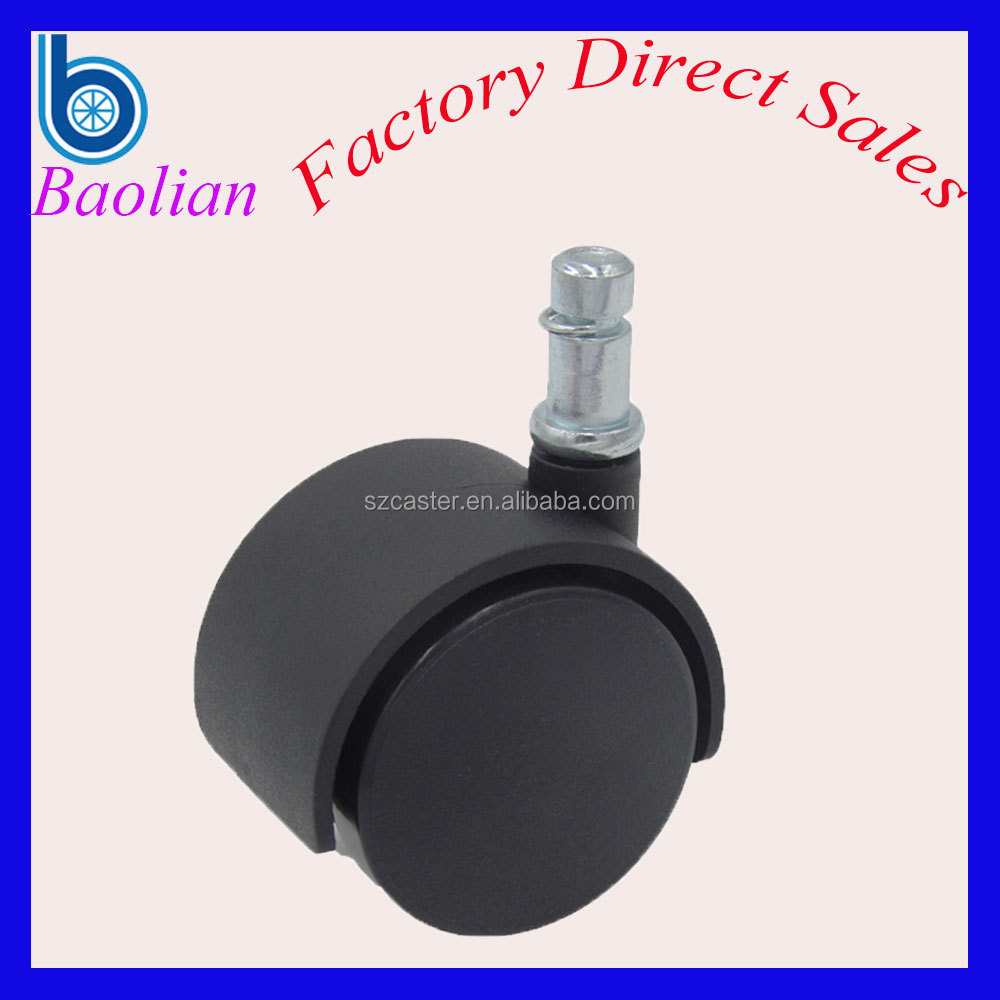 Low-noise stainless black dual furniture caster and wheel
