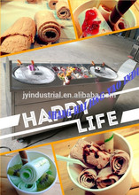 Double Square Pans Freezing Pans Fried Ice Cream Machines 10 Toppings SHANGHAI FACTORY