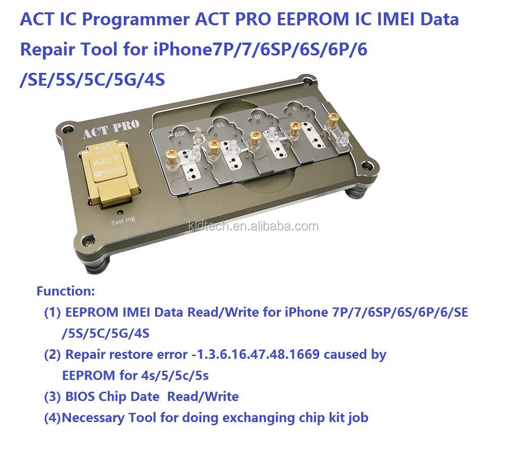 ACT IC Programmer ACT PRO EEPROM IC IMEI Data Repair Tool for iPhone 7P/7/6SP/6S/6P/6/SE/5S/5C/5G/4S eeprom read write backup