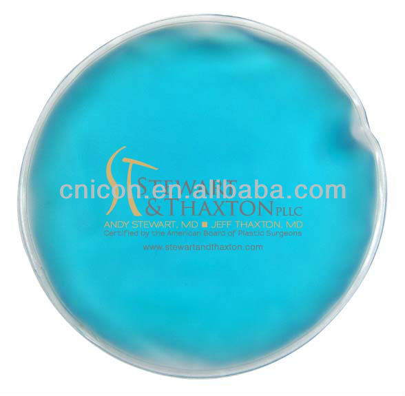 Round ice packs/round cold packs/custom round ice gel packs