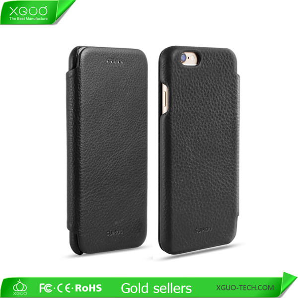 Wholesale black mobile phone leather case for iphone6/iphone 6s