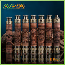 vision wooden e cig battery 510/ego with variable voltage(3.3-4.8V)