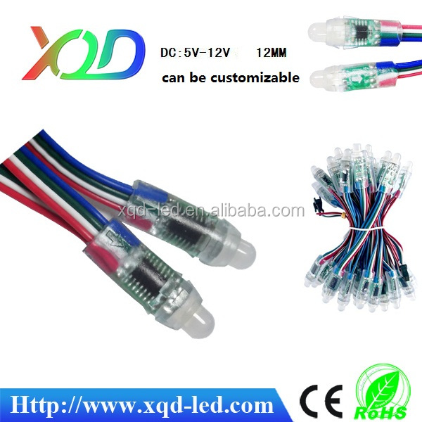 High quality Waterproof LED Flexible lig DC12V 12MM ws2811 smart pixel light Diffused Thin Digital RGB