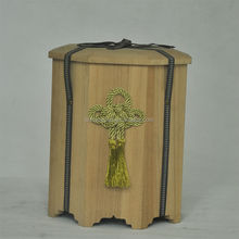 japanease paulownia wood funerary casket box for ashes