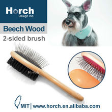 Grooming tool quality wooden handle patented pin brush madan