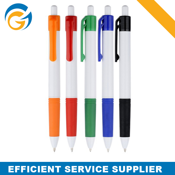 Branded Pens Gift Items White Plastic Pen