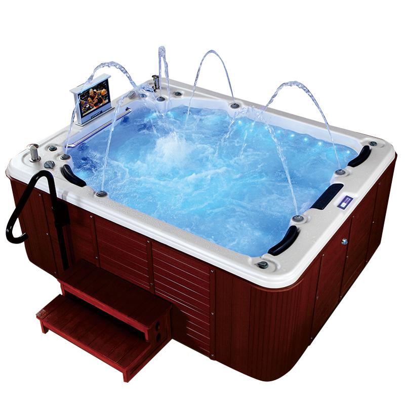 Spa-013 Freestanding Whirlpool Waterfall Hot Tub With Tv - Buy ...
