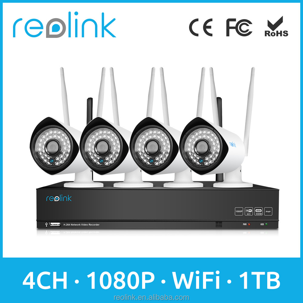 1080P WIFI IP Camera with NVR kit Wireless Home Security Surveillance Reolink RLK4-210WB4