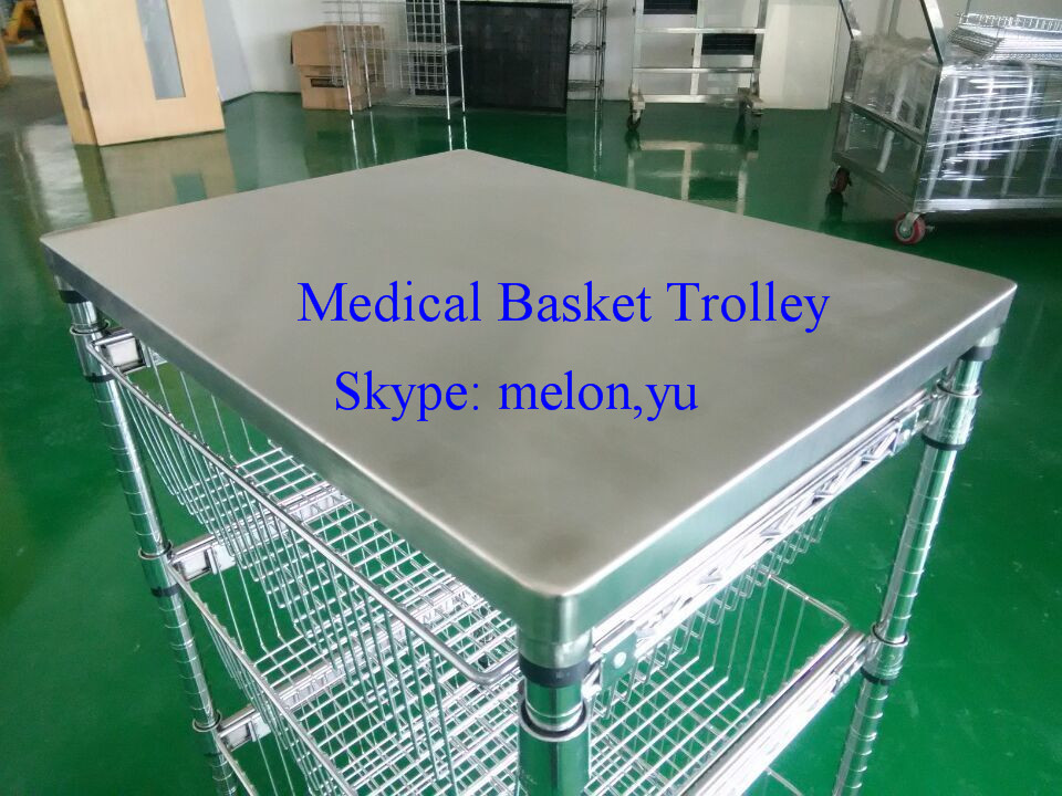 New Style Sliding Baskets,Chrome Hospital Trolley with Baskets
