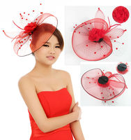 MYLOVE red sinamay hats for bridal ladies dress hats MLXM018