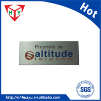 supply Aluminum nameplate
