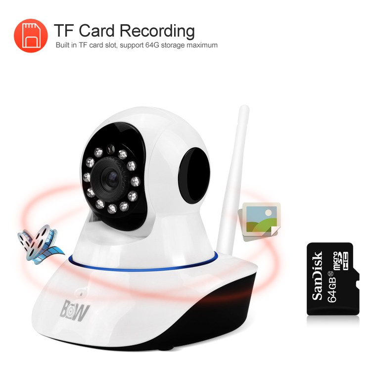 New arrival support Andirod/ IOS small wifi ip camera H.264 720P wireless hidden camera with free app login