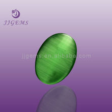 Synthetic light green cat eye stone
