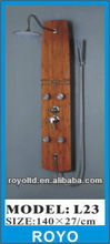 Bathroom bamboo massage shower panel L23