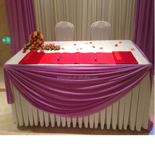 100% polyester Superior quality Decorative Different Beautiful Table Skirt