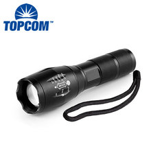 High Power Zoom Tactical Handheld Torch 18650 Battery Rechargeable Led Flash Light
