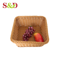 Most popular large square food container plastic pp rattan basket