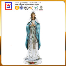 "8"" Resin Statue Figure Virgin Mary Blessed Mary Madonna Rosary Holder Statue Home Chapel Decoration and polyresin mary figurines"