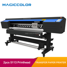 1.8m Best Dye Sublimation Textile T Shirt Printer Machine with 2PCS 5113