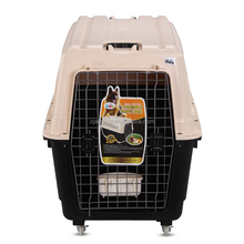Plastic Pet Air Box Dog Travel Carrier With Wheel