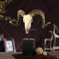 resin home ornament animal head figurine sculpture