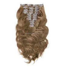 Wholesale Popular free samples full head clip in real human hair extensions in UK market 120g