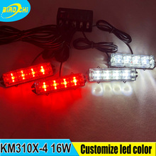 16W grille lights super bright red and white flashing led strobe emergency warning lights for road saftey
