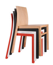 Contemporary stacking wood restaurant dining chair