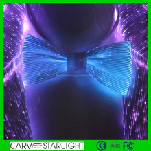2017 glowing fibre optic bow-tie for clubs, dance, stage tie