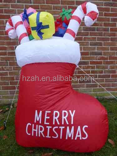 Big Inflatable Stocking for Christmas Party Decor