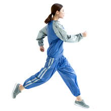 China manufacturer blue or sliver or white pvc sauna suit for exercise lose weight training sports
